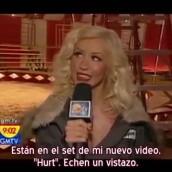 Christina habla de sobre «Hurt» desde el set